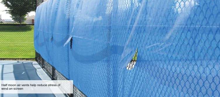 Windscreens For Outfields And Courts Baseball Outfield Fence